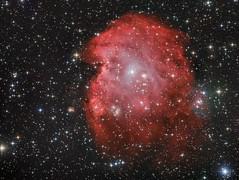 The Monkey Head Nebula - NGC2175 (cfaobam) Tags: ontcnewton moravian photo eqalign pixinsight astronomie deepsky goto deutschland germany astrophotography astrophoto astrofoto bayern astrofotografie cfaobam astronomy telescope teleskop losmandy ngc2175 emissionsnebel cluster orion affenkopf nebel nebula