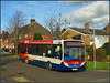 37068, an unwelcome visitor to the village........... (Jason 87030) Tags: midlands stagecoach d2 daventry rugby northampton northants 12 local village spinneyhill november 2017 yy63yrp 376068 d branded light wheels publictransport change