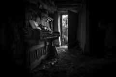 Abandoned piano. (ducatidave60) Tags: fuji fujifilm fujifilmxpro1 fujinonxf14mm28r abandoned decay dereliction urbandecay urbex