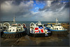 Not hovered! (Jason 87030) Tags: craft storm weather brian windy sea ryde iow island isleofwight hovercraft unionflag lighting light color colour holiday october freedom90 solentflyer islandflyer islandexpress poo scene view landing grounded