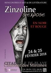 Dans 100 jours Exposition Zinzoline en Noir et Rouge (jackline22) Tags: zinzoline exposition art littérature blaye citadelle 2018