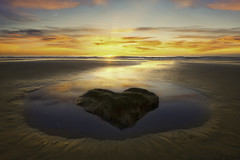 I Heart Sunset! (Lee Sie) Tags: sunset seascape ocean pacific west coast sandiego heart beach water sand sky clouds