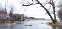 Water Overflow (maureen.elliott) Tags: landscape river brucecounty rural parkhead countryside waterflow buikdings november outdoors saubleriver