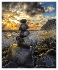 A zen moment (awardphotography73) Tags: beautiful sunlight southwales beach sunset water stones stonebalanced tide sea moments relaxing meditation relaxmeditation mindful mindfulness tranquility