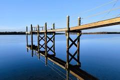 Dock 4 (brev99) Tags: d610 sigma2414 sigmaart dock barrington rhodeisland reflection water bluesky sunsetlight nikviveza colorefex topazclarity