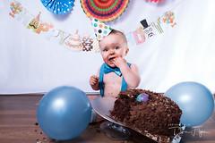 Cake Smash (debraflynnphotography) Tags: 2017 lachlan baby birthday cakesmash colourful fans one children boy cake messy