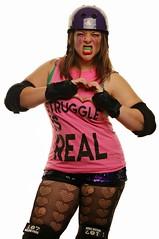 Hot Mess Maulee (Studio d'Xavier) Tags: hotmessmaulie rollerderby derbygirl impromptuportrait portrait pink strobist thestruggleisreal