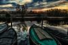 Atardecer en el embarcadero. (Pilar Lozano ♥) Tags: barcas árboles naturaleza reflejos nubes lozano♥agua