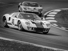 GT40's (PINNACLE PHOTO) Tags: gt40 masters brandshatch kent ford car racecar fat 40 number white two racing historic vintage corner martinbillard canon