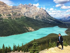 Peyto Lake ft. my Dad (aly_cali) Tags: mountain trees beauty summer people classic blue water green nature portrait landscape lake canada alberta