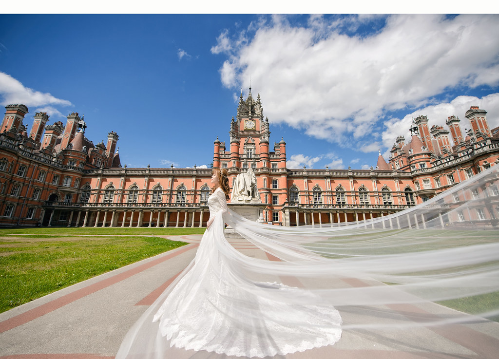 倫敦婚紗 Royal Holloway婚紗拍攝 禮服: Toris Wedding