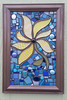 4-2 sunflower finished (toadranchlady) Tags: mosaicart mixedmediamosaic temperedglass stainedglass foundobjects