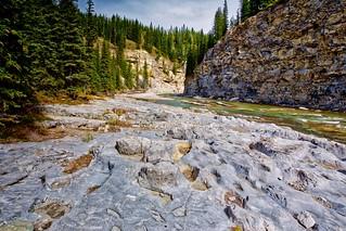 Karst footprints Elbow River