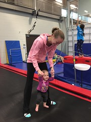 """Dani Bounces with Mommy in Her Gym Kittens Gymnastics Class • <a style=""""font-size:0.8em;"""" href=""""http://www.flickr.com/photos/109120354@N07/37662277354/"""" target=""""_blank"""">View on Flickr</a>"""