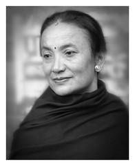 Nepali woman (posterboy2007) Tags: kathmandu nepal nepali woman bw monochrome portrait street sony rx100m3