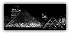 Série Pyramide du Louvre : N° 12 (Jean-Louis DUMAS) Tags: pyramide louvre architecture architect architecte lines batiment building hdr black white monochrome apple iphone explore géométrique bâtiment ciel fenêtre toit symétrie nuit night shot iphone7plus nightshot smartphone