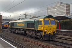 66524 + 57308 (40011 MAURETANIA) Tags: crewe freightliner shed gm generalmotors2 class 66 light engine