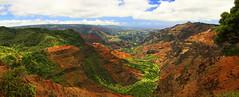 Waimea Canyon Pano (Matt Champlin) Tags: weekend friday tgif travel amazing incredible canyon hawaii kauai waimeacanyon grandcanyonofthepacific nature expanse exotic stunning island red rocks gorge huge usa canon 2017 landscape environment protection