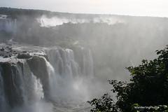 Iguaçu Falls from the Brazil side (WanderingPJB) Tags: brazil argentina iguçufalls waterfalls iguassu iguazu river spray