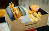 An awesome meal fit for a king. 🍔 (stratman² (2 many pix!)) Tags: canonphotography eos7dmarkii tamronspaf1750mmf28diiivc foodphotography charcoal bun burger awesomeness delicious shallowdof bokeh doubletrouble awesomefries myburgerlab