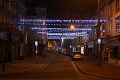 Christmas Lights (lazy south's travels) Tags: teignmouth english south devon british england britain uk street evening dark christmas lights xmas town center centre