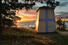 Happy 100th Birthday Finland! (PentlandPirate of the North) Tags: finland suomi independence country independent hanko birthday pentlandpiratewozhere beach bathing hut sunset finland100 suomi100 centenary