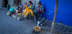 2017 - Mexico - Tlaquepaque - Street Manufacturing (Ted's photos - For Me & You) Tags: 2017 cropped guadalajara mexico nikon nikond750 nikonfx tedmcgrath tedsphotos tedsphotosmexico vignetting streetscene street people peopleandpaths child weaving working hoodie baskets whicker