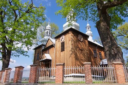 Kościół Niepokalanego Poczęcia NMP w Jasienicy Rosielnej od południowego zachodu