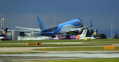 J78A2000 Thomson G-OBYF (M0JRA) Tags: thomson gobyf manchester airport planes flying jets biz aircraft pilot sky clouds runways