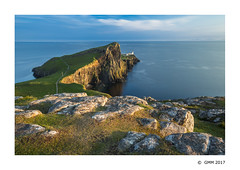 Neist Point at sunset (germano manganaro) Tags: uk unitedkingdom scotland scozia schottland écosse escocia innerhebrides skye neistpoint glendale lighthouse phare faro leuchtturm cliff scogliera acantilado falaise neist sunset tramonto coucherdesoleil puestadelsol landscape seascape