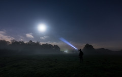 Just Out Of Reach (Rob Pitt) Tags: moon moonlit moonlight mist misty torch beam