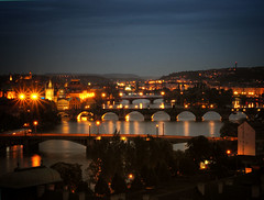 Prague at night (Ostseeleuchte) Tags: prag praha prague letnápark metronom favoriteplaceinprague lieblingsplatz nightshot nachtaufnahme brückenvonprag bridgesofprague moldau vltava