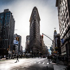 The Flatiron Building - New York - Travel photography (Giuseppe Milo (www.pixael.com)) Tags: photo people urban building manhattan travel sky photography newyork city flatiron architecture buildings geotagged clouds unitedstates us onsale