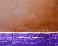 The Wall (DimitriosPi) Tags: wall background texture colorful wallpaper color grunge old design pattern art abstract aged rough textured decoration orange blank vintage decorative architecture paint surface space retro lilac