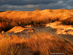 Morning Beauty (JamesEyeViewPhotography) Tags: sleepingbeardunes nationallakeshore northernmichigan sky clouds autumn fall colors lake michigan greatlakes lakemichigan sunrise grass sand dunes beach sleepingbearpoint jameseyeviewphotography