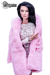 "Pink fur coat and more fashions from ""Michaela X ELENPRIV"" collection (elenpriv) Tags: pink fur coat shades grey hanne erickson fashion doll fashionroyalty jason wu integrity toys 16inch michaela unbehau collection elenpriv elena peredreeva clothes handmade"