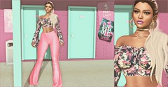 | Bitter? Sweet? | (Xaqueline) Tags: sl secondlife avatar slfashion pink floral c88 collabor88 candydoll pixicat kibitz 7 seven egozy catwa espy thehorror roost ninety sunnydaze zaara everglow