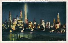 New York 128 (Chris Protopapas) Tags: newyorkcity skyline postcard vintage fantasy night gotham