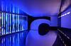 Cinquième Salle (DJ Axis) Tags: multimedia performances 3d painted rooms illusion entrance entree salle 5 five blue lights purple perspective illusions festival quartiers place des arts montreal optical