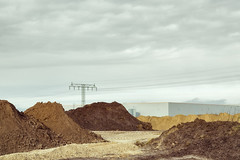Built on Sand (Ralph Graef) Tags: sand soil business electricity brandenburg drab drabness mopish