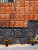 Tzompantli urbano (supernova.gdl.mx) Tags: dia muertos ajijic chapala mexico calavera calaca pared tzompantli muro barro artesania