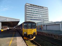 150128 Plymouth (2) (Marky7890) Tags: gwr 150128 class150 sprinter 2g74 plymouth railway devon devonmainline train