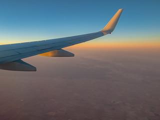Sunrise at 35000 feet