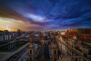 Ayer llovió en la ciudad de Buenos Aires