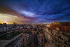 Ayer llovió en la ciudad de Buenos Aires (karinavera) Tags: city longexposure night photography cityscape urban ilcea7m2 thunderstorm lightning buenosaires sunset clouds rayos storm weather balvanera sky church