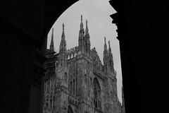 El me Domm (carlo612001) Tags: italia duomo milano italy cathedral milan gothic gotico architettura architecture bw bn black white blackandwhite