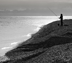 The Long Cast 1 (vannairnart) Tags: dungeness fishing sea shingle beach waves