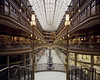 Cleveland Arcade (Wilmarco Imaging) Tags: analogue analog film kodakportra160 interior indoor architecture architectural architektur cleveland ohio midwest light tile solarium atrium glass stairs windows retail steel skeleton