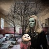 Madonna and Child: abandoned mental hospital (Flamenco Sun) Tags: mask hospital horror bizarre nativity madonna bedlam mental odd fuckedup disturbing weird