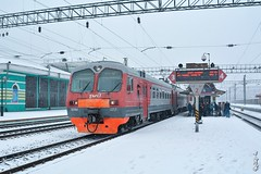 Electric train ED9M-0257... (N.Batkhurel) Tags: electrictrain ed9m season snow winter trains trainspotting transport travel station railway railfan russia rzd irkutsk ngc nikon nikond5200 24120mm